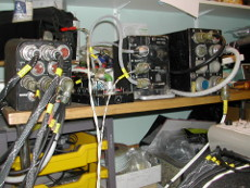 PTR-175 radio installation Lightning T5 test rig