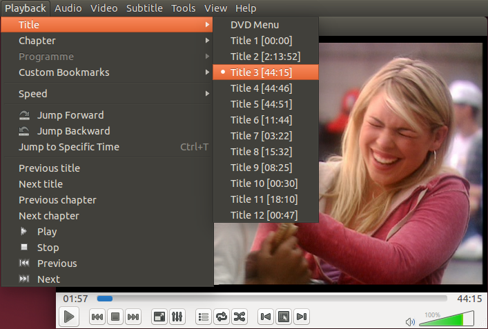 relate DVD titles to episodes using VLC