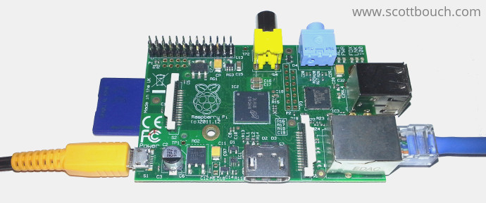 Raspberry Pi 1 Model B as Web Server with just power and Ethernet connected